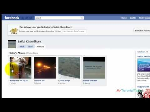 Hide or Block facebook picture album easily