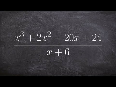 How to use synthetic division to divide two polynomials forgot to write the quotient out