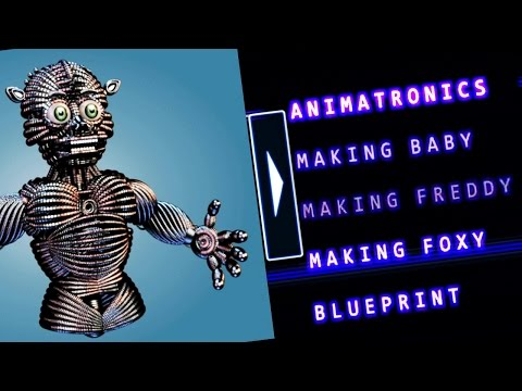 Five Nights at Freddy's Sister Location Extras Menu || ALL ANIMATRONICS AND BLUEPRINTS!