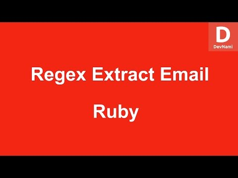 Selenium Ruby Regex Extract Email