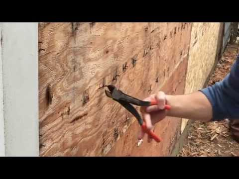 Fast way to remove a lot of nails from siding on your house