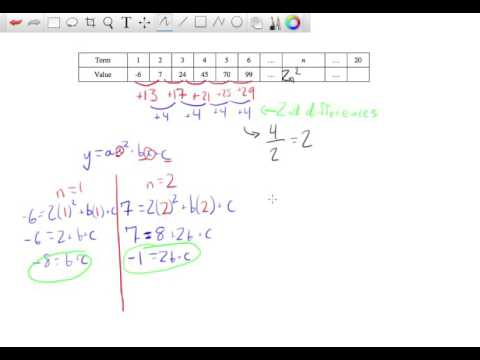 Finding the nth term in a Quadratic Sequence