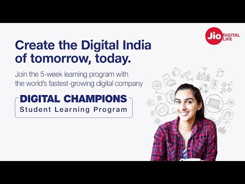 Jio Digital Champions - 5 Week Student Learning Program