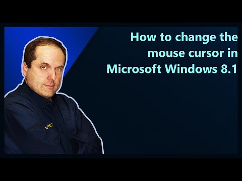 How to change the mouse cursor in Microsoft Windows 8.1