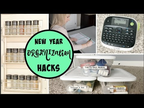 ORGANIZING HACKS & TIPS FOR YOUR HOME | HOW TO GET ORGANIZED IN THE NEW YEAR | my organizing tips