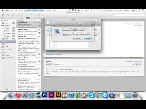 How to set up Auto Reply to Email - Mac