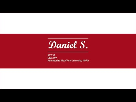 Congratulations Daniel! Admitted to NYU with a 2.97 GPA