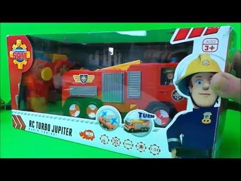 Fireman Sam RC JUPITER Fire Engine and Fireman Sam Surprise Eggs #Unboxing