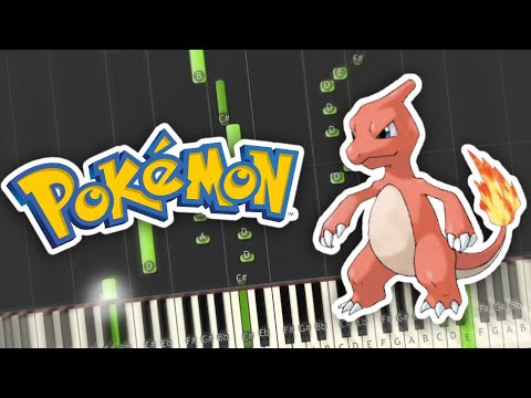 Pokemon Red, Blue, Yellow - Road to Viridian City Leaving Pallet Town Theme Piano Tutorial Synthesia