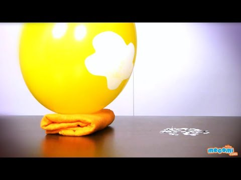 Balloon and Wool Experiment - Static Electricity Science Project   Educational Videos by Mocomi Kids