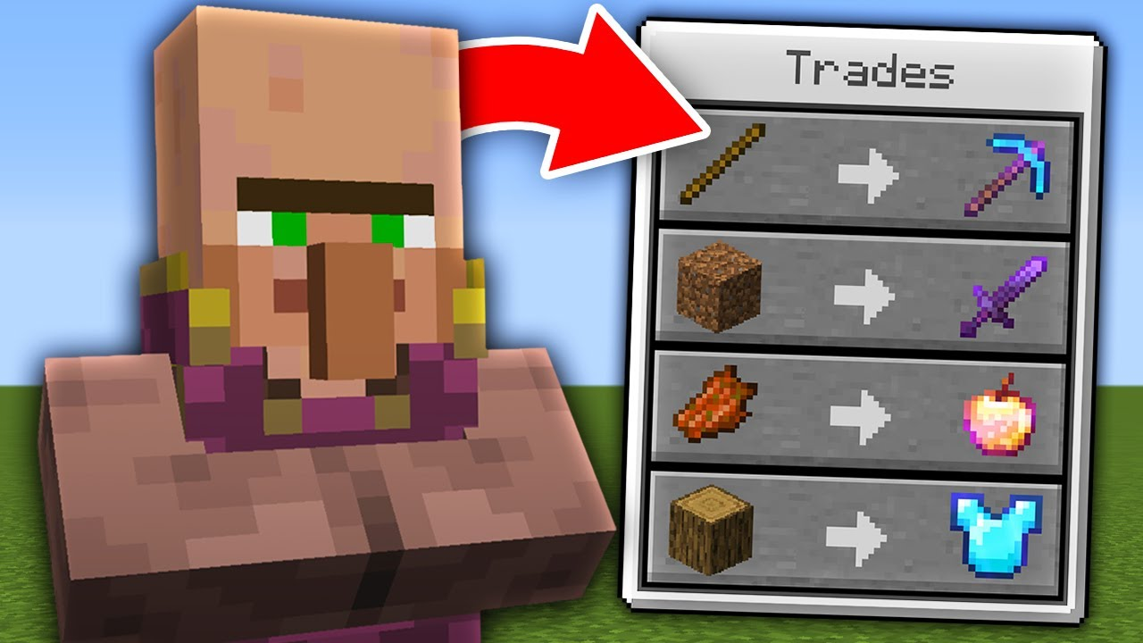 Minecraft, But Villagers Trade OP Items...