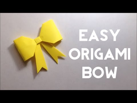 Cute Paper Bow - Origami Bow Tutorial - Easy Steps for Beginners (DIY) - Easy Origami