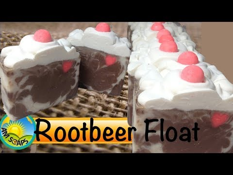 Making and Cutting Rootbeer Float Cold Process Soap