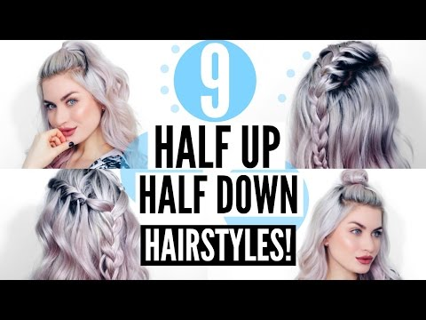 9 HALF UP - HALF DOWN HAIRSTYLES! QUICK & SIMPLE! | LYSSRYANN