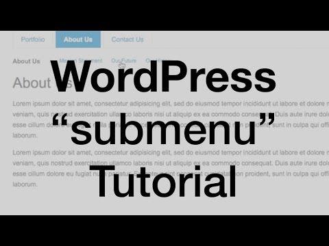WordPress Child Page Menu (parent & subpages)