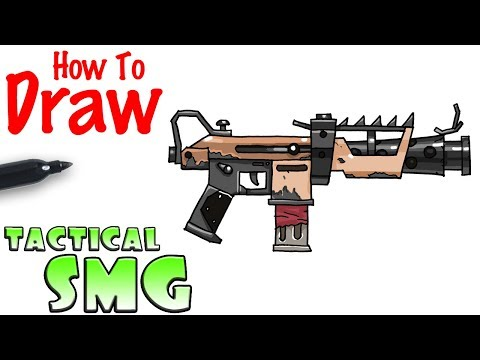 How To Draw The Tactical Smg Fortnite Playingitnow All