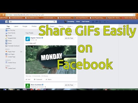 Gif on your facebook within seconds