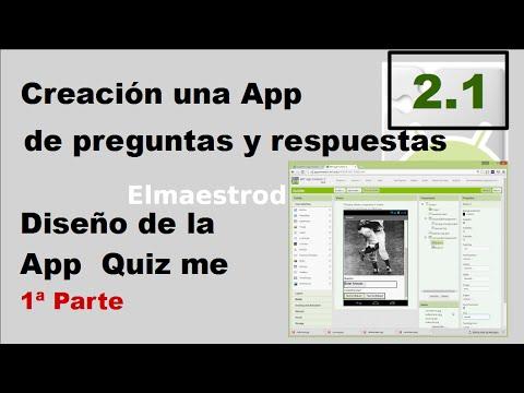2.1 Diseño de la App Quiz me con App Inventor 2
