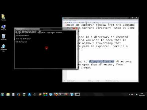 Open an Explorer Window from the Command Prompt's Current Directory  Step By Step Tutorial