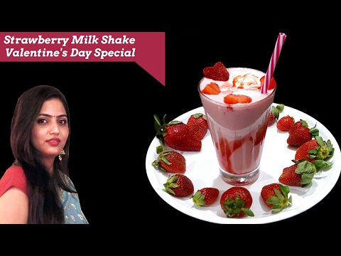strawberry milkshake-valentine's day special-summer drink