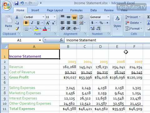 Merge and Center in Excel 2007