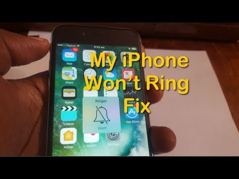 My iPhone won't ring fix