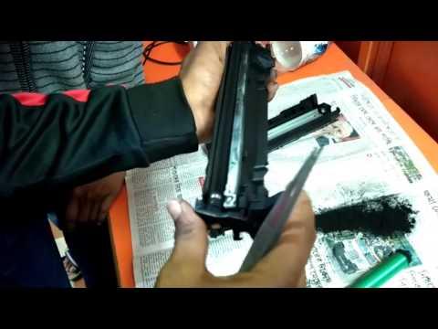 HP Laserjet P1007 Toner Cartridge Refill process