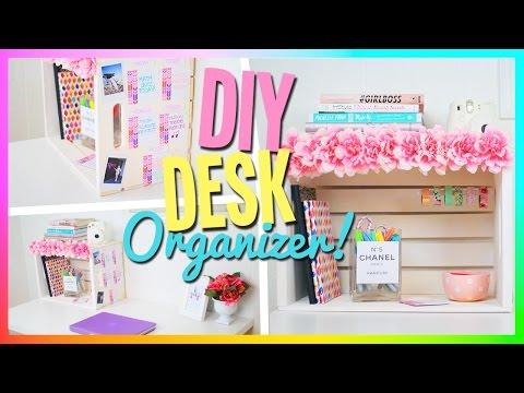 DIY Desk Organizer! Cute & Easy!