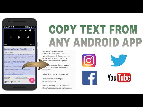 How To Copy Text From Any Android App- YouTube, Facebook, Twitter, Instagram,