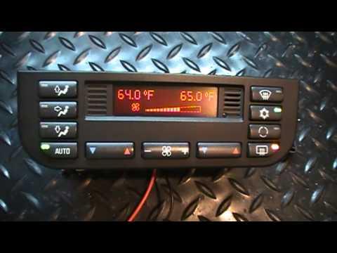 96 - 99 BMW E36 3 series climate control module test - Problem Information