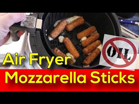 Air Fryer Mozzarella Sticks - NO Oil Added - Amazing and Crispy!
