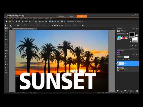 How to Use the Text and Shape Cutter Tools in PaintShop Pro X7