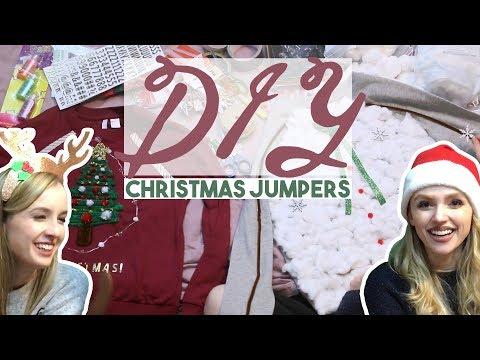 DIY christmas jumpers ✯ ft. Becka!