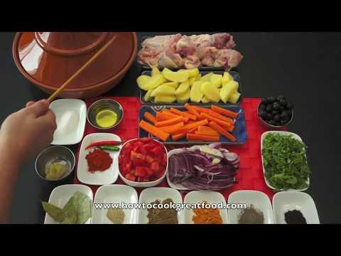 Chicken Tagine Recipe - Simple Easy Tajine Tajina Moroccan  الطاجين