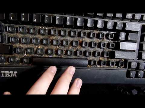 Cleaning Up a DISGUSTING 16 Year-Old IBM Keyboard!