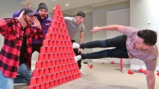 Extreme Red Cup Fort Challenge! (10,000 RED CUPS!)