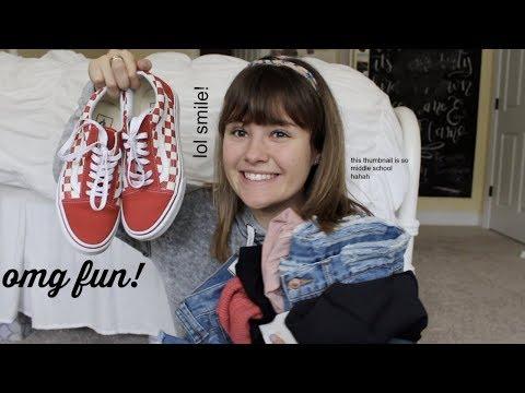 SPRING CLOTHING HAUL | vans, madewell, Lululemon