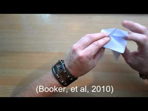 Square based pyramid origami and geometry lesson