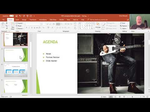 Fix Exceptions to the slide master in PowerPoint and reset layouts by Chris Menard