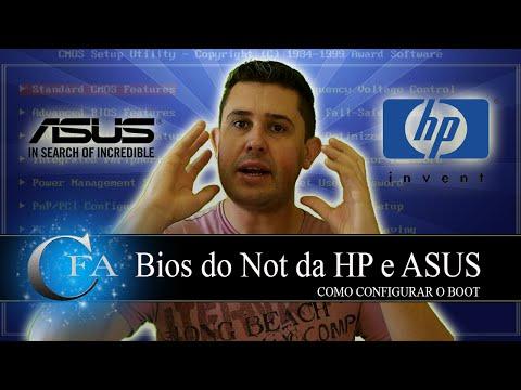 Configurar bios do Not da HP e ASUS  para formatar com pen drive ou DVD