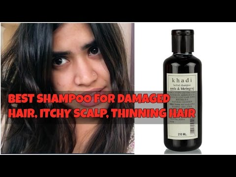 Control hair fall , damaged hair , oily scalp naturally | Khadi herbal shampoo review