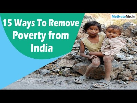 15 Ways To Remove Poverty from India