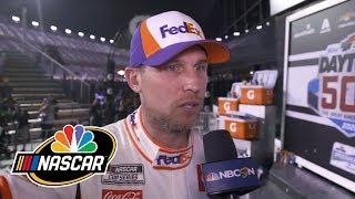 Denny Hamlin talks after Daytona 500, Ryan Newman crash | Motorsports on NBC