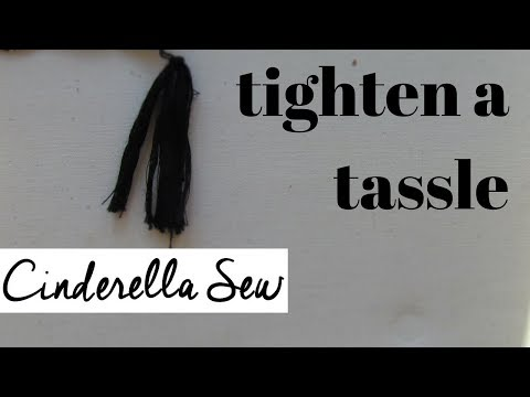 Tighten a loose tassle on clothing - Repair tassles that are falling off and coming loose