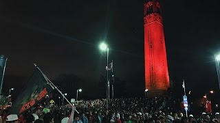 NC State Fans Celebrate Victory Over Duke