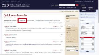 How-to use the OED | Understanding the Results Page