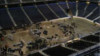Time Lapse Conversion from WWE Monday Night Raw to NHL Ice