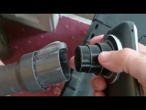 Remove dust from camera lens