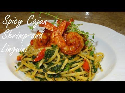 🔥 Spicy Cajun Shrimp over Linguini Pasta 🔥