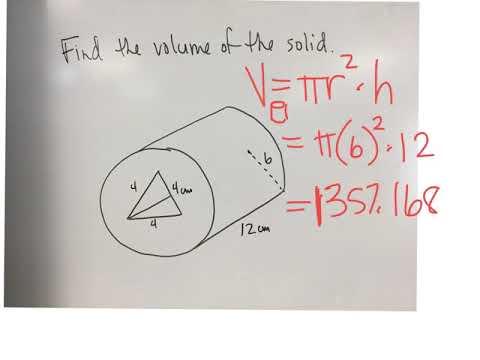Cylinder minus triangular prism.